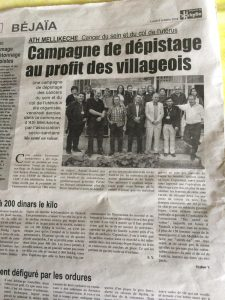 Article du journal La Depeche de Kabylie